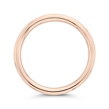Load image into Gallery viewer, Rose Gold Curved Plain Wedding Band CARIZZA CA0405B-P-1.50