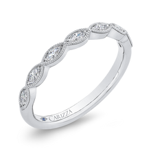 Load image into Gallery viewer, Marquise Diamond Wedding Band CARIZZA CA0407B-37W-1.50