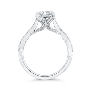 Semi-Mount Round Diamond Engagement Ring CARIZZA CA0410EH-37W-1.50