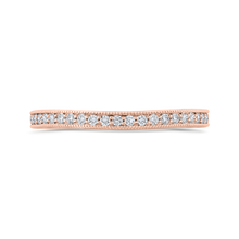 Load image into Gallery viewer, Rose Gold Channel Diamond Wedding Band CARIZZA CA0423BQ-37P-1.50