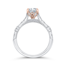 Load image into Gallery viewer, Semi-Mount Rose and White Gold Round Diamond Engagement Ring CARIZZA CA0431EH-37WP-1.00