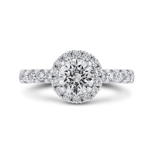 Semi-Mount Round Diamond Halo Engagement Ring CARIZZA CA0436EH-37W-1.00