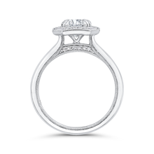 Load image into Gallery viewer, Plain Shank Diamond Halo Engagement Ring CARIZZA CA0444E-37W-1.00