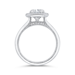 Plain Shank Diamond Halo Engagement Ring CARIZZA CA0444E-37W-1.00
