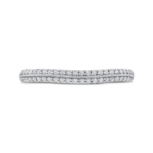 Load image into Gallery viewer, Round Diamond Half-Eternity Wedding Band CARIZZA CA0446BH-37WP-1.00