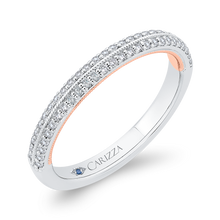 Load image into Gallery viewer, Cathedral Style Diamond Wedding Band CARIZZA CA0447BH-37WP-1.50