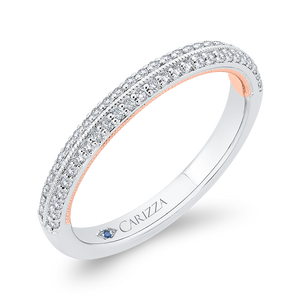 Cathedral Style Diamond Wedding Band CARIZZA CA0447BH-37WP-1.50