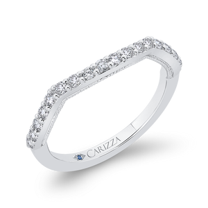 Curved Half-Eternity Diamond Wedding Band CARIZZA CA0450BH-37W-1.50