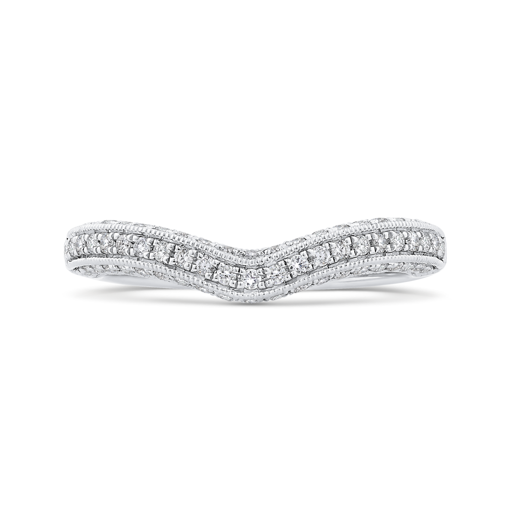 Curved Diamond Wedding Band CARIZZA CA0457BH-37W-1.50