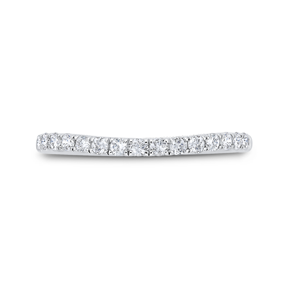 Half Run Diamond Wedding Band CARIZZA CA0460BH-37W-1.00