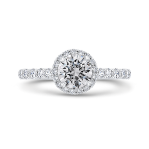 Semi-Mount Round Diamond Engagement Ring CARIZZA CA0463EH-37W-1.00