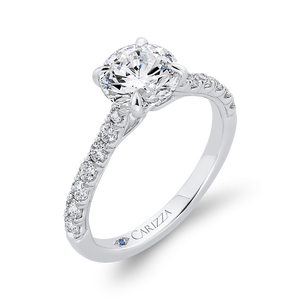 Semi-Mount Round Diamond Engagement Ring CARIZZA CA0464EH-37W-1.50