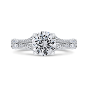 Euro Shank Semi-Mount Diamond Engagement Ring CARIZZA CA0471EH-37W-1.50