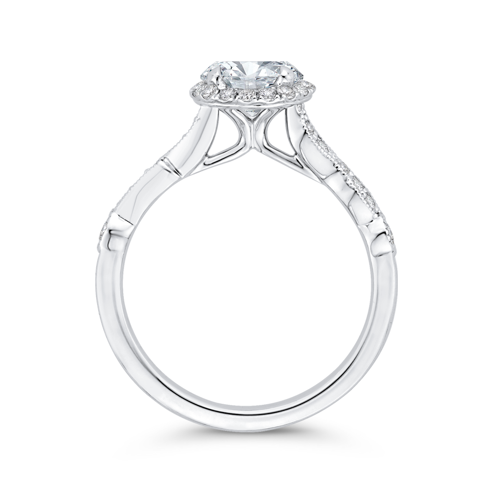 Semi-Mount Round Diamond Engagement Ring CARIZZA CA0474EH-37W-1.00