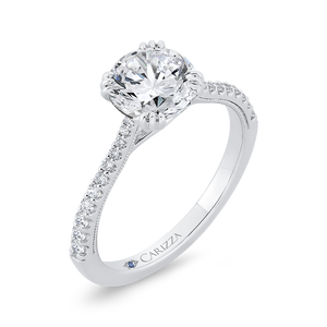 Semi-Mount Round Diamond Engagement Ring CARIZZA CA0478EH-37W-1.50