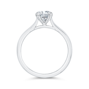 Plain Shank Solitaire Engagement Ring CARIZZA CA0494E-W-1.00