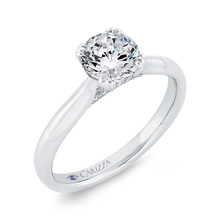 Load image into Gallery viewer, Semi-Mount Diamond Engagement Ring CARIZZA CA0496E-37W-1.00