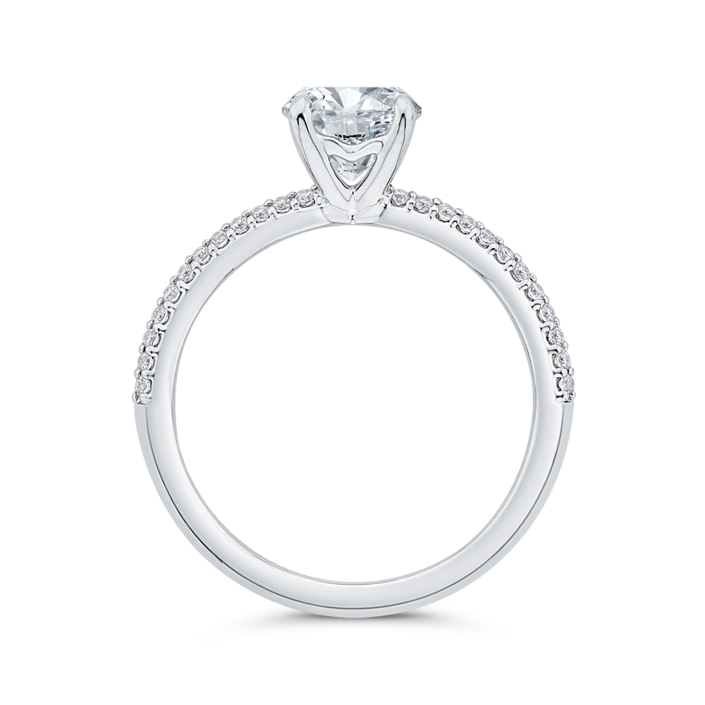 Semi-Mount Round Diamond Engagement Ring CARIZZA CA0518EH-37W-1.00