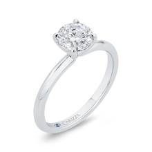 Load image into Gallery viewer, Plain Solitaire Round diamond Engagement Ring CARIZZA CA0519E-W-1.00