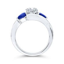 Load image into Gallery viewer, Sapphire White Gold Pear Diamond Engagement Ring CARIZZA CAA0065E-S37W