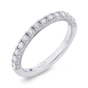 Half-Eternity Wedding Band CARIZZA CAA0427BH-37W-1.45