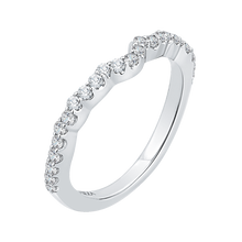 Load image into Gallery viewer, Diamond Vintage Semi-Eternity Wedding Band CARIZZA CAE0175BH-37W