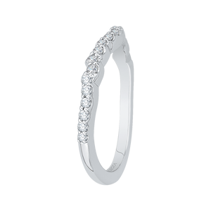 Diamond Vintage Semi-Eternity Wedding Band CARIZZA CAE0175BH-37W