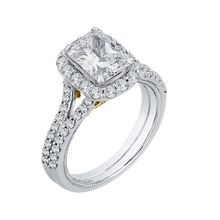 Load image into Gallery viewer, Two Tone 14K Gold Halo Diamond Engagement Ring CARIZZA CAE0193EH-37WY-1.50