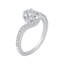 Load image into Gallery viewer, Oval Cut Diamond Promise Engagement Ring CARIZZA CAO0137EH-37W