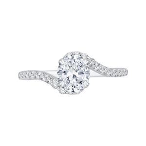 Oval Cut Diamond Promise Engagement Ring CARIZZA CAO0137EH-37W