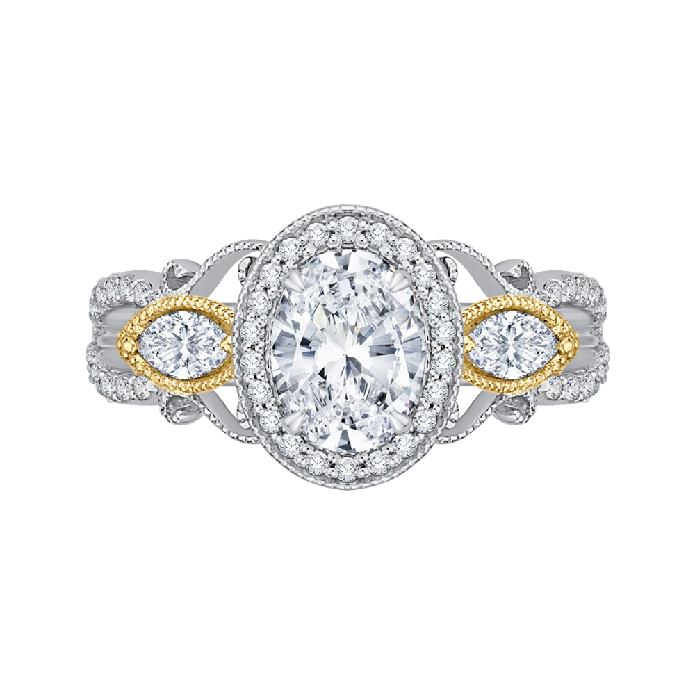 Semi - Mount Diamond Engagement Ring CARIZZA CAO0175EH-37WY
