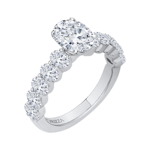 Oval Diamond Engagement Ring (Semi-Mount) CARIZZA CAO0189EH-37W-1.50