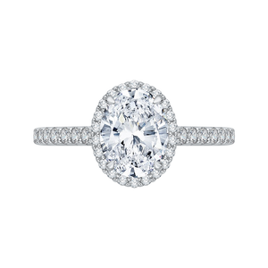 Semi-Mount Oval Diamond Engagement Ring CARIZZA CAO0210E-37W-1.50
