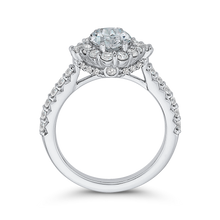 Load image into Gallery viewer, Oval Diamond Halo Engagement Ring CARIZZA CAO0233EH-37W-1.50