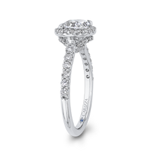 Load image into Gallery viewer, Oval Diamond Halo Engagement Ring CARIZZA CAO0243EH-37W-1.50
