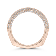 Load image into Gallery viewer, Rose Gold Round Diamond Wedding Band CARIZZA CAO0438BH-42P-1.00