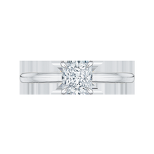 Load image into Gallery viewer, Princess Cut Diamond Solitaire Engagement Ring CARIZZA CAP0038E-WY