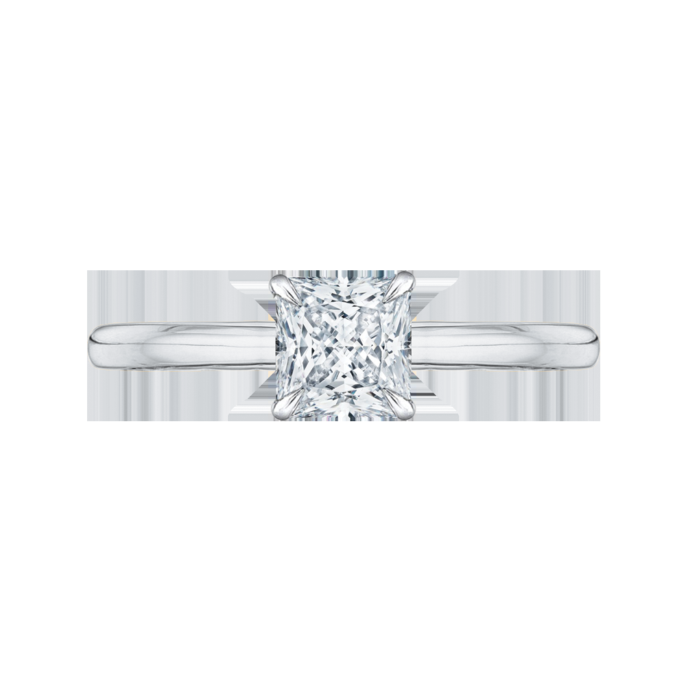 Princess Cut Diamond Solitaire Engagement Ring CARIZZA CAP0038E-WY