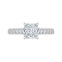 Load image into Gallery viewer, Princess Cut Diamond Cathedral Style Engagement Ring CARIZZA CAP0039E-37W