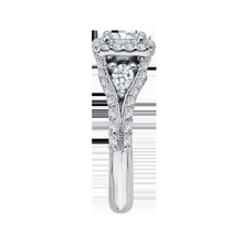 Load image into Gallery viewer, Split Shank Semi-Mount Princess Diamond Engagement Ring CARIZZA CAP0041E-37W