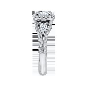 Split Shank Semi-Mount Princess Diamond Engagement Ring CARIZZA CAP0041E-37W