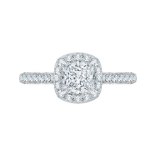 Load image into Gallery viewer, Princess Cut Diamond Engagement Ring CARIZZA CAP0085E-37W