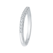 Load image into Gallery viewer, White Gold Round Wedding Band CARIZZA CAQ0193BH-37W-1.50