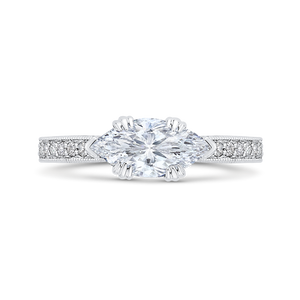 Marquise Diamond Engagement Ring CARIZZA CAQ0430EH-37WY-1.00