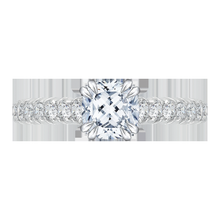 Load image into Gallery viewer, Cathedral Style Cushion Diamond Engagement Ring CARIZZA CAU0039E-37W