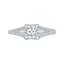 Load image into Gallery viewer, Split Shank Cushion Cut Diamond Engagement Ring CARIZZA CAU0048E-37W