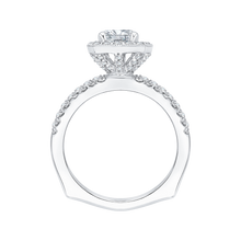 Load image into Gallery viewer, Euro Shank Cushion Diamond Engagement Ring CARIZZA CAU0058E-37W