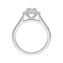 Load image into Gallery viewer, Cushion Diamond Halo Engagement Ring CARIZZA CAU0090E-37W