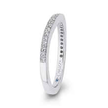 Load image into Gallery viewer, Cathedral Round Diamond Wedding Band CARIZZA CAU0244BH-37W-1.50