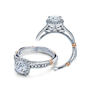 Unique Verragio Prong Set D104CU Parisian Cushion Cut Vintage Engagement Ring